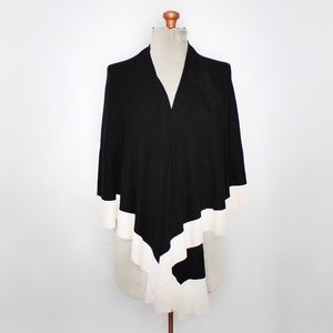 Parkhurst Black & White Knit Wrap Cardigan